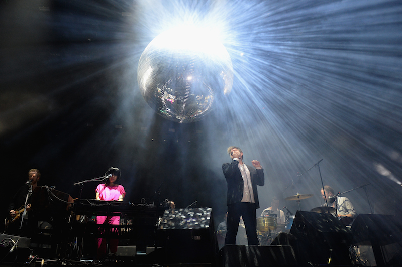 INDIO, CA - APRIL 15: (L-R) Recording artists Al Doyle, Nancy Whang, James Murphy, Pat Mahoney, and Tyler Pope of LCD Soundsystem perform onstage during day 1 of the 2016 Coachella Valley Music & Arts Festival Weekend 1 at the Empire Polo Club on April 15, 2016 in Indio, California. (Photo by Kevin Winter/Getty Images for Coachella)