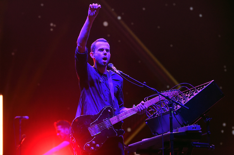 INDIO, CA - APRIL 15: Musician Anthony Gonzalez of M83 performs onstage during day 1 of the 2016 Coachella Valley Music & Arts Festival Weekend 1 at the Empire Polo Club on April 15, 2016 in Indio, California. (Photo by Kevin Winter/Getty Images for Coachella)