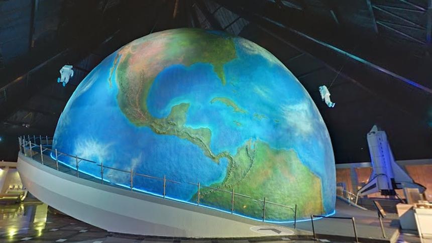 interior del Planetario de Puebla