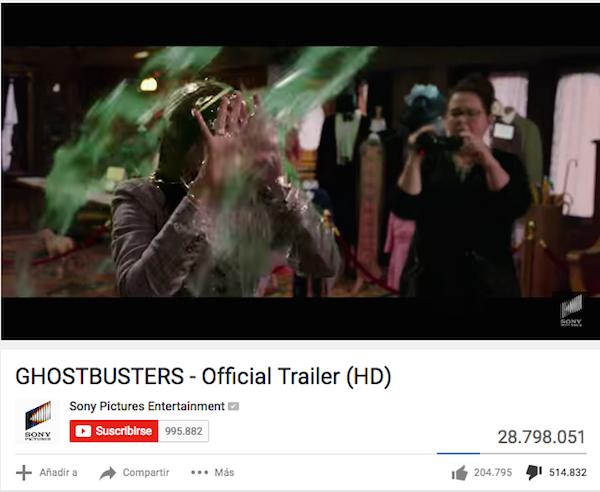 trailer-ghostbusters-menos-likes