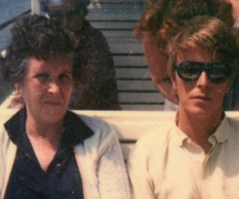 Daily Telegraph - Polaroid family photo of David Bowie (centre) with his mum Peggy. Picture provided from his Leeds cousin Andrew Caress.