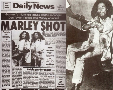 bob marley disparo