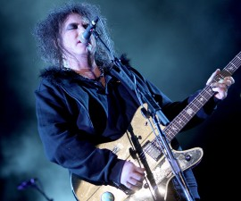 INDIO, CA - APRIL 19:  Musician Robert Smith of The Cure performs during day 3 of the Coachella Valley Music & Arts Festival 2009 at the Empire Polo Club on April 19, 2009 in Indio, California.  (Photo by John Shearer/WireImage)