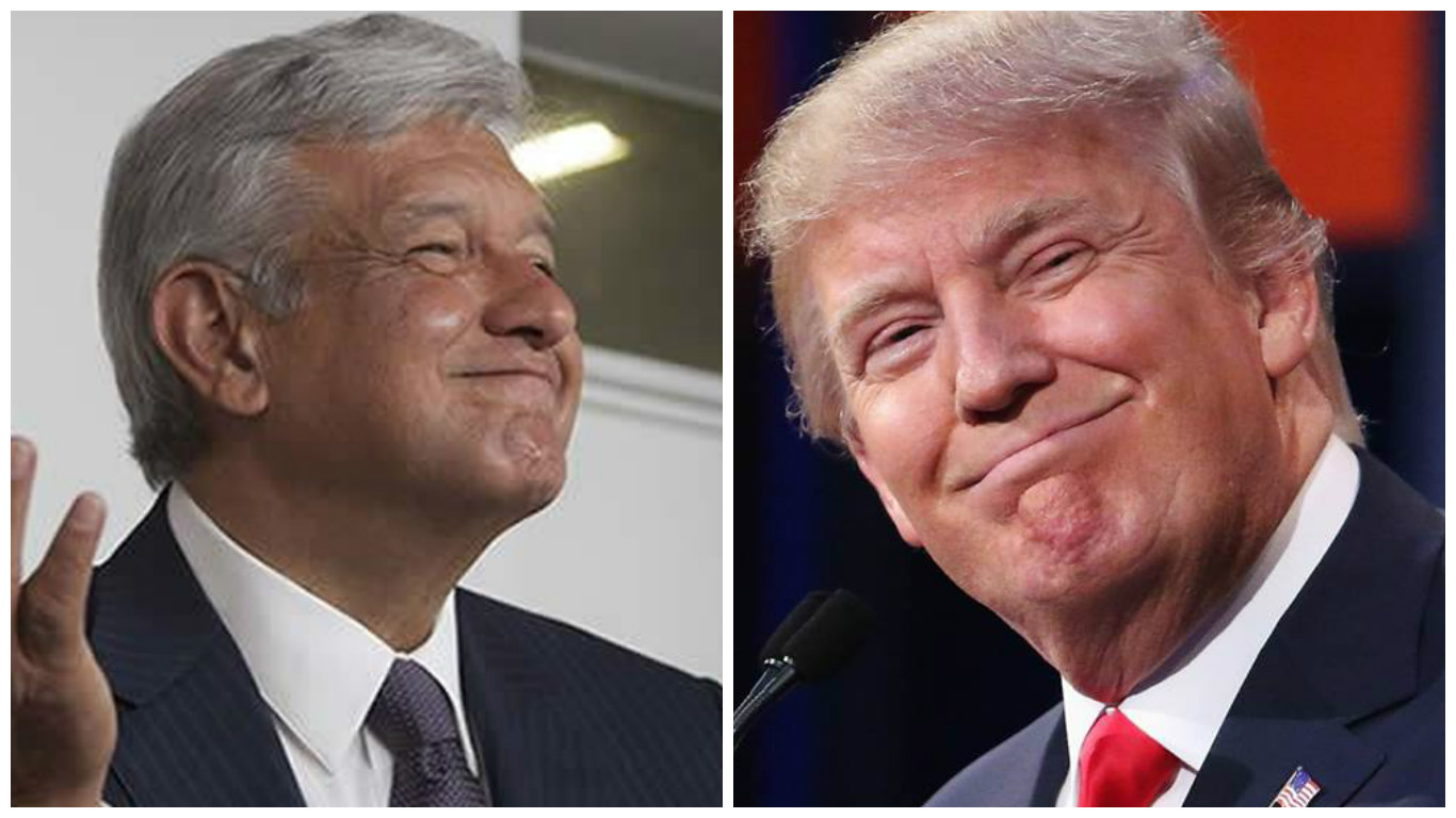 Image result for IMAGENES LOPEZ OBRADOR DONALD TRUMP