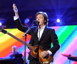 LOS ANGELES, CA - FEBRUARY 10:  Honoree Sir Paul McCartney performs onstage during The 2012 MusiCares Person of The Year Gala Honoring Paul McCartney at Los Angeles Convention Center on February 10, 2012 in Los Angeles, California.  (Photo by Michael Kovac/WireImage)
