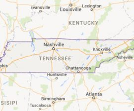 Mapa-Tennessee