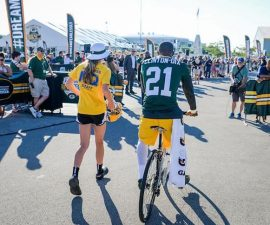 ha ha clinton dix training camp packers bike