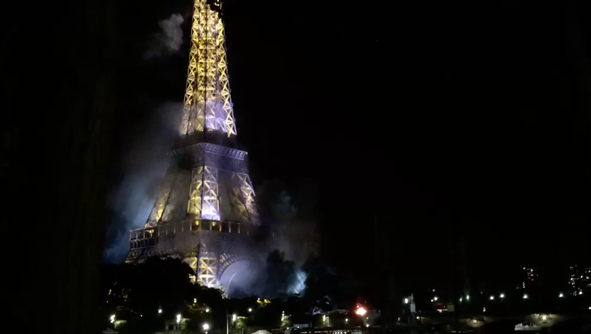 Incendio accidental en la torre eiffel alerta a par s tras for Quien hizo la torre eiffel