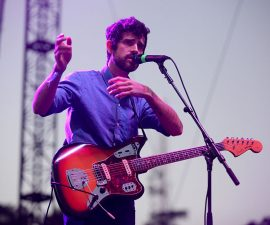 LOS ANGELES, CA - AUGUST 24:  Musician Devendra Banhart performs onstage at the Charlotte Stage during Day 1 of FYF Fest 2013 at Los Angeles State Historic Park on August 24, 2013 in Los Angeles, California.  (Photo by Trixie Textor/Getty Images)