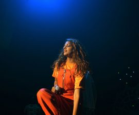 NEW YORK, NY - MAY 10:  M.I.A. performs onstage at the Vulture Festival Presents MIA + Solange at Webster Hall on May 10, 2014 in New York City.  (Photo by Stephen Lovekin/Getty Images for New York Magazine)