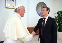 Papa Francisco y Mark Zuckerberg.