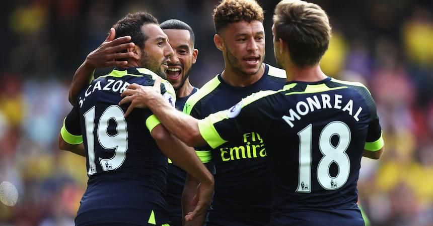 Arsenal ganó su primer juego de la temporada 1-3 al Watford