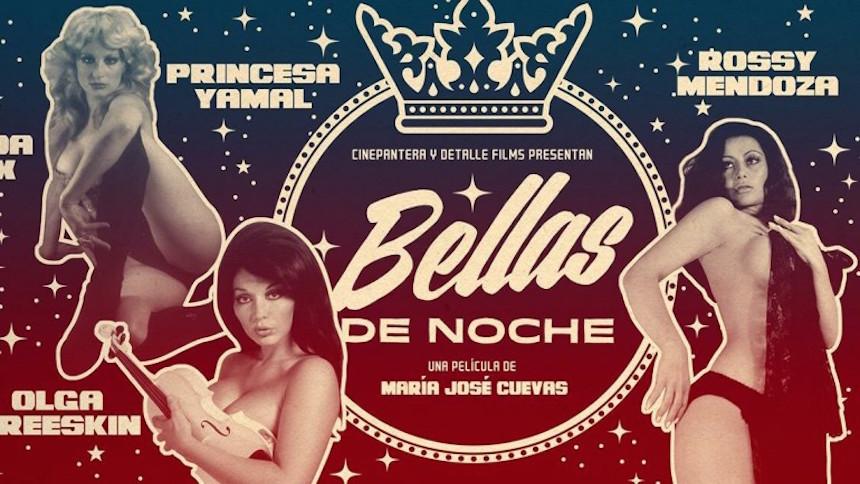 """Cartel promocional del documental """"Bellas de Noche"""""""