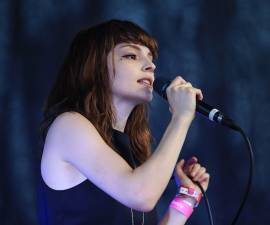 AUSTIN, TX - MARCH 17:  Lauren Mayberry of Chvrches performs at The Spotify House, SXSW 2016 on March 17, 2016 in Austin, Texas.  (Photo by Anna Webber/Getty Images for Spotify)