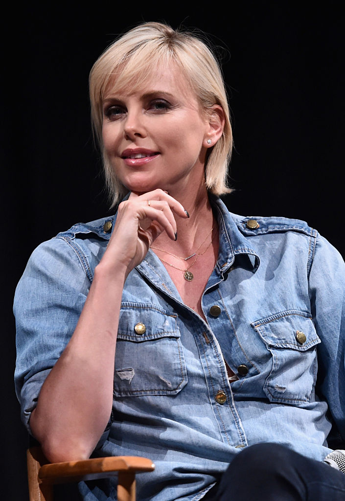 """LOS ANGELES, CA - JULY 08: Actress Charlize Theron attend a reunion for """"Two Days In The Valley"""" at NeueHouse Hollywood on July 8, 2016 in Los Angeles, California. (Photo by Alberto E. Rodriguez/Getty Images)"""