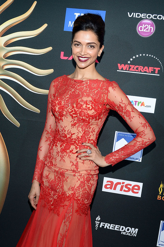 TAMPA, FL - APRIL 26: Bollywood actress Deepika Padukone arrives to the IIFA Awards at Raymond James Stadium on April 26, 2014 in Tampa, Florida. (Photo by Gustavo Caballero/Getty Images)