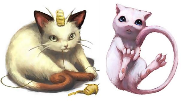dibujo-pokemon-meowth-mew