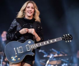 GLASTONBURY, ENGLAND - JUNE 26:  Ellie Goulding performs on the Pyramid Stage on day 2 of the Glastonbury Festival at Worthy Farm, Pilton on June 26, 2016 in Glastonbury, England. Now its 46th year the festival is one largest music festivals in the world and this year features headline acts Muse, Adele and Coldplay. The Festival, which Michael Eavis started in 1970 when several hundred hippies paid just £1, now attracts more than 175,000 people.  (Photo by Ian Gavan/Getty Images)