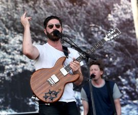 INDIO, CA - APRIL 22:  Musical artist Yannis Philippakis of Foals performs onstage during day 1 of the 2016 Coachella Valley Music & Arts Festival Weekend 2 at the Empire Polo Club on April 22, 2016 in Indio, California.  (Photo by Kevin Winter/Getty Images for Coachella)