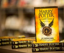"""LONDON, ENGLAND - JULY 30:  Staff prepare to sell copies """"Harry Potter and the Cursed Child"""" at Foyles book store on July 30, 2016 in London, England.  The script book of the play of the same name, which is on at Palace Theatre, billed as the eighth Harry Potter story, is on sale from midnight tonight.  (Photo by Rob Stothard/Getty Images)"""