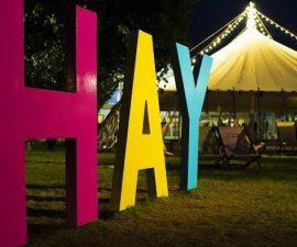 Hay after dark