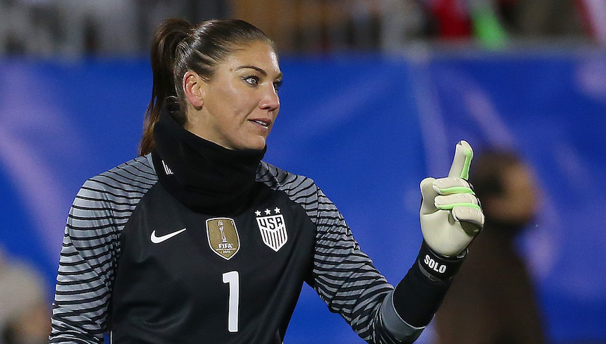 Hope Solo fue suspendida de la Selección de EUA por criticona