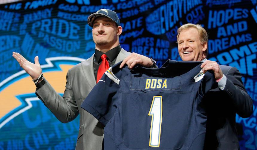 Joey Bosa finalmente firmó con los San Diego Chargers