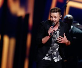 "STOCKHOLM, SWEDEN - MAY 14:  Justin Timberlake performs his new single ""Can't Stop The Feeling"" at the Ericsson Globe on May 14, 2016 in Stockholm, Sweden.  (Photo by Michael Campanella/Getty Images)"