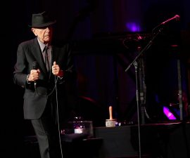 NEW YORK, NY - APRIL 06:  Singer/musician Leonard Cohen performs at Radio City Music Hall on April 6, 2013 in New York City.  (Photo by Jemal Countess/Getty Images)