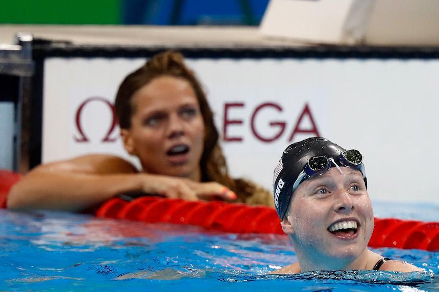 Las reacciones de Lilly King y Yulia Efimova al momento de conocer los resultados
