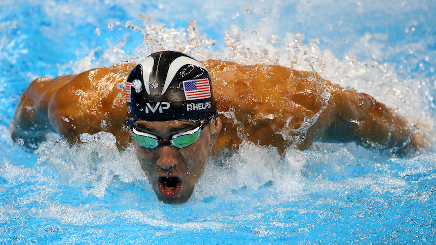 Michael Phelps en una prueba durante una prueba de natación en Río de Janeiro