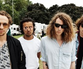 LONDON, ENGLAND - JULY 08: In this handout image supplied by Ray-Ban, Mystery Jets wearing Ray-Ban poses at the Ray-Ban Rooms at Barclaycard Presents British Summer Time Hyde Park on July 8, 2016 in London, United Kingdom. (Photo by Ray-Ban via Getty Images)