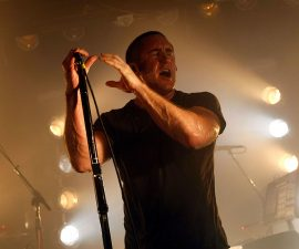 LOS ANGELES, CA - SEPTEMBER 06:  Trent Reznor of Nine Inch Nails performs at the Echoplex on September 6, 2009 in Los Angeles, California.  (Photo by Michael Buckner/Getty Images for Rebel Waltz)