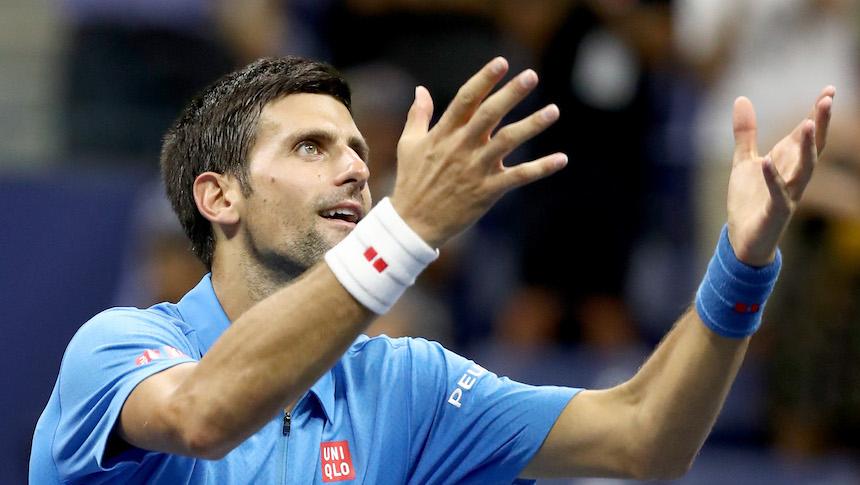 Novak Djokovic celebra con un baile su triunfo en el US Open