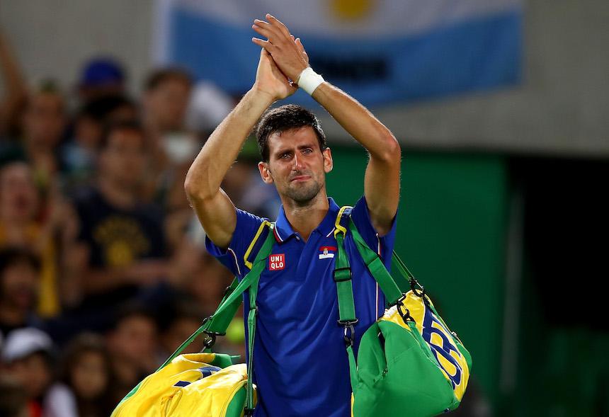 Novak Djokovic no pudo contener el llanto al momento de quedar eliminado de los Juegos Olímpicos