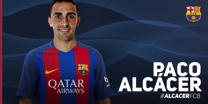 Barcelona hace oficial la llegada de Paco Alcácer
