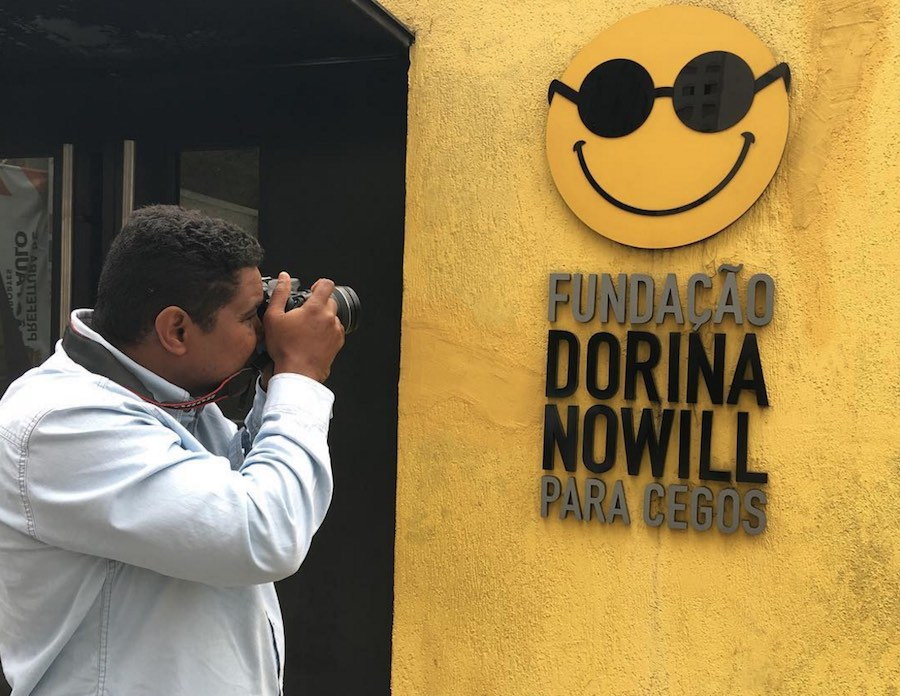 Joao Maia, fotógrafo invidente de Río 2016.