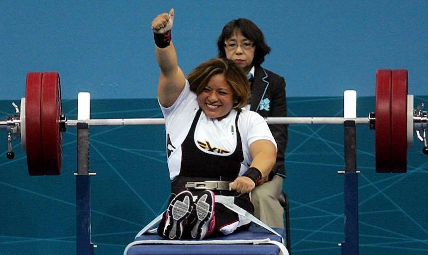Amalia Perez durante los Juegos Paralímpicos de Londres 2012.