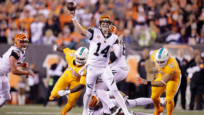 Los Bengals dominan a los Dolphins en el inicio de la Semana 4 en la NFL