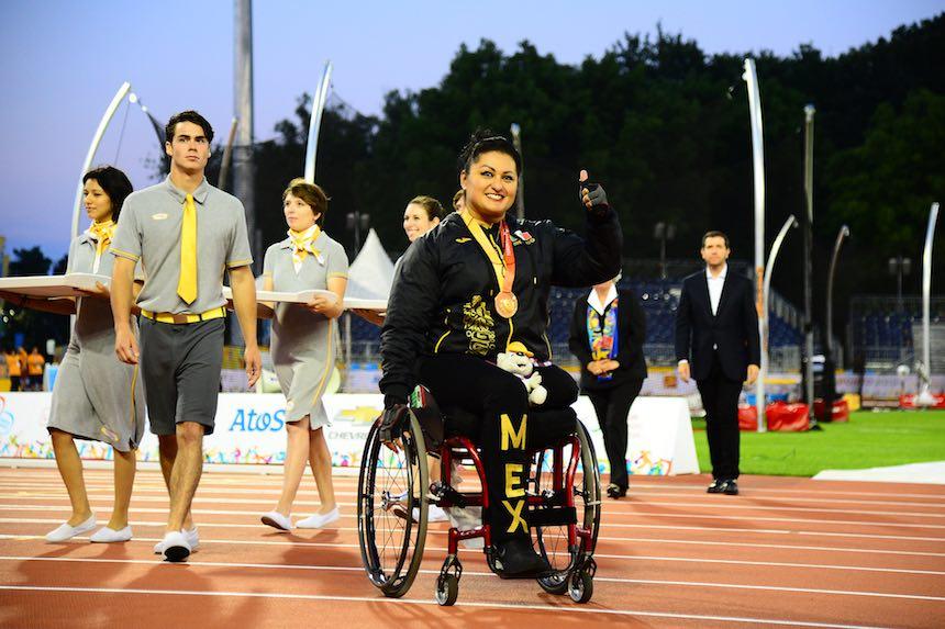Ángeles Ortíz en competición en Toronto.