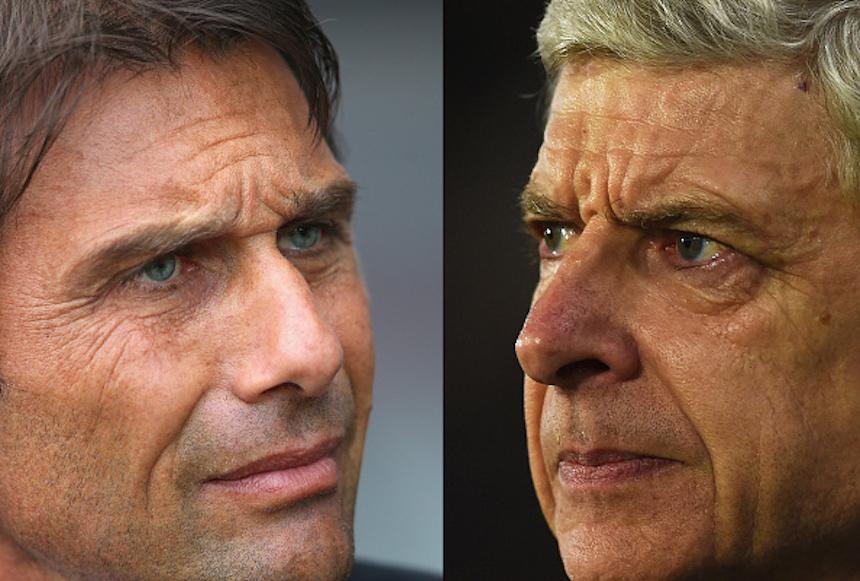Antonio Conte contra Arsene Wenger