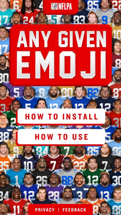 Aplicación para emojis de jugadores de la NFL