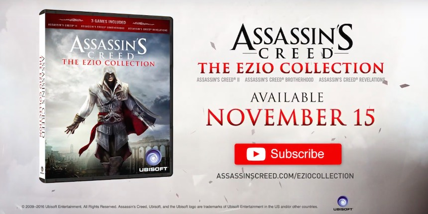 Confirmado: Assassin's Creed: The Ezio Collection llegará este año