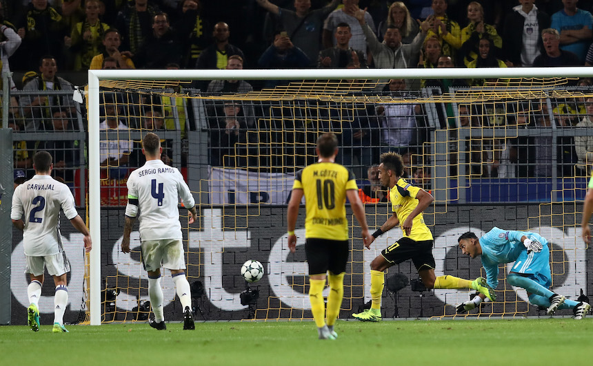Aubameyang marcó el empate