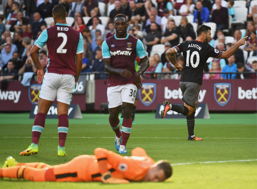 Adrián se lamenta el primer gol del Southampton