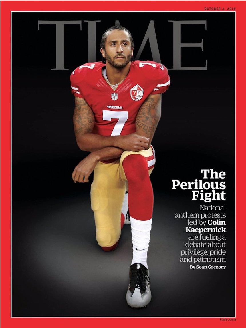 Colin Kaepernick en la portada de la revista Time