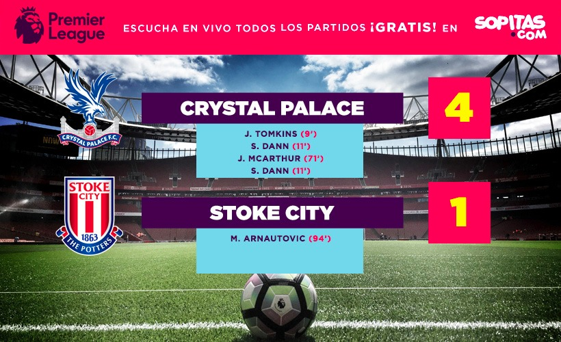 Crystal Palace se impuso 4-1 al Stoke City