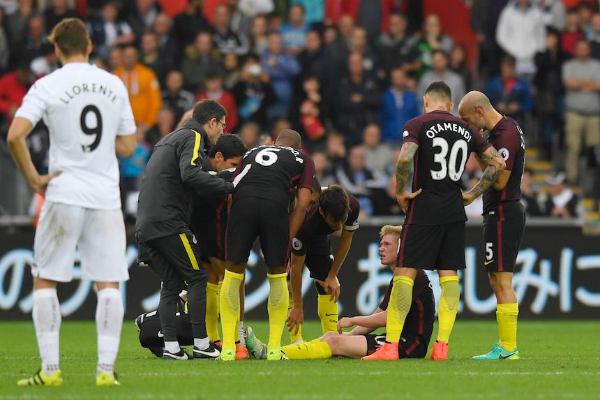 Baja sensible para el Manchester City, Kevin de Bruyne estará fuera un mes