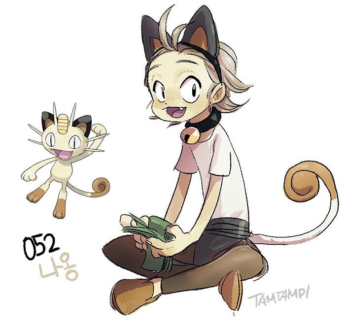Dibujo - Humano Meowth