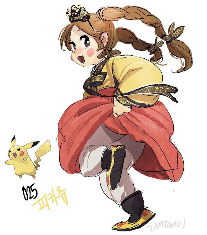 Dibujo - Humano Pikachu